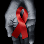 An HIV/AIDS awareness ribbon.