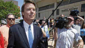 John Edwards faced the court and the media after his indictment in June.