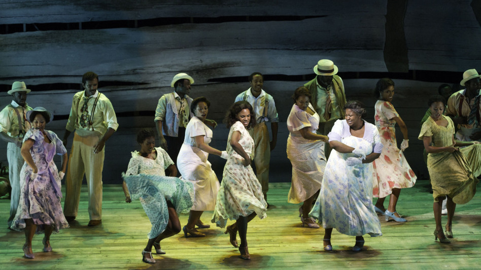 The women of Porgy and Bess dance. (Courtesy of the American Repertory Theater)