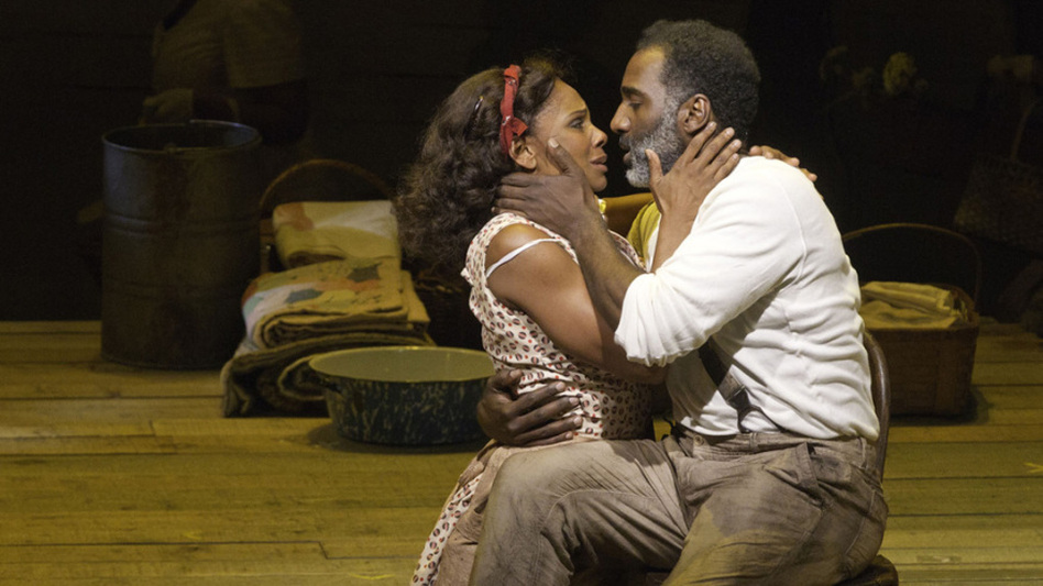 Audra McDonald (left) and Norm Lewis play the title characters in a new and controversial take on Porgy and Bess. (Courtesy of the American Repertory Theater)