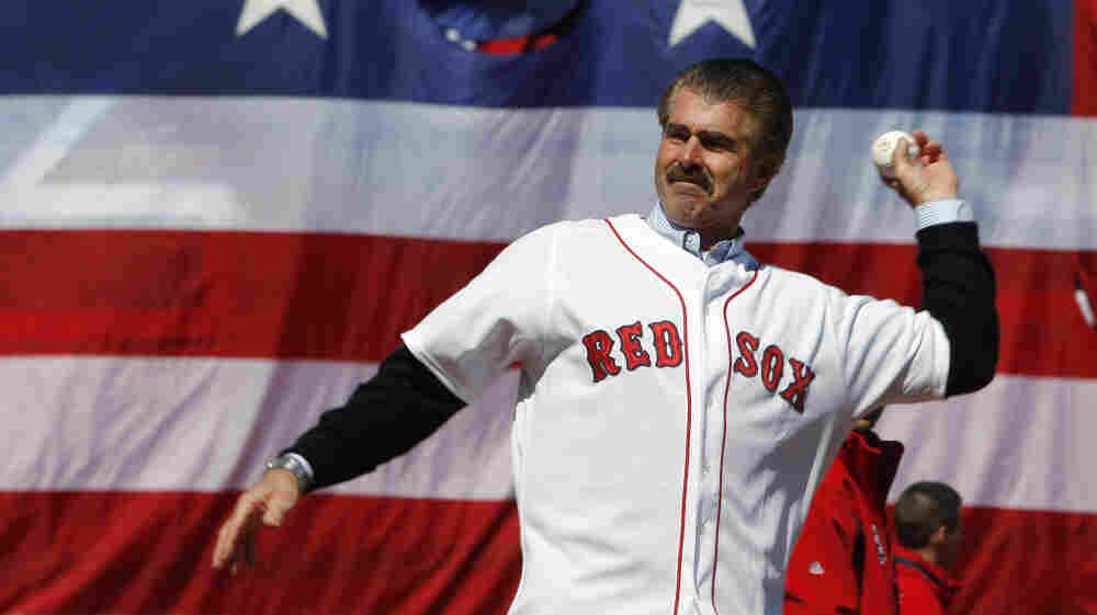 Bill Buckner throws out the ceremonial first pitch at a game between the Boston Red Sox and Detroit Tigers in 2008 at Fenway Park in Boston.