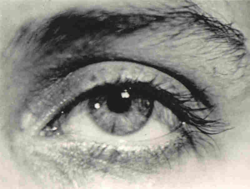 Man and Miller's intense relationship resulted in some of the most striking imagery of their careers. Here, Ray photographed Miller's eye.