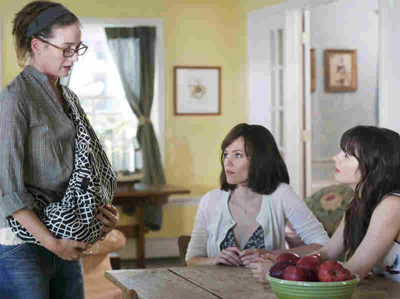 Left to right: Liz (Emily Mortimer), Miranda (Banks) and Natalie (Zooey Deschanel), Ned's put-upon sisters, are each dealing with relationship crises of their own — made worse, but then strangely helped, by Ned's arrival.