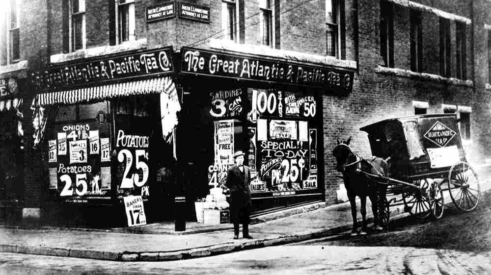Brothers George and John A. Hartford opened the first A&P Economy Store in 1912. This storefront photo dates from around 1915.