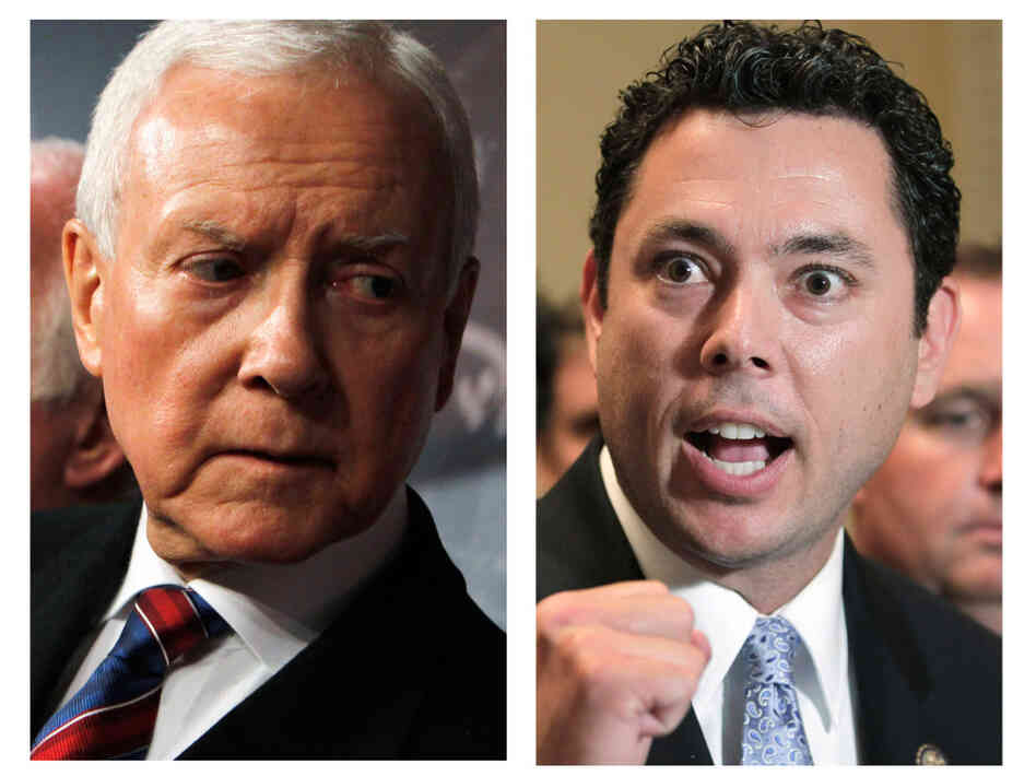 Sen Orrin Hatch (l) and Rep. Jason Chaffetz.