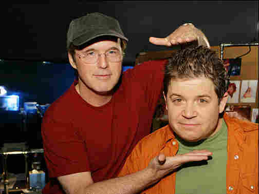 Director Brad Bird (left) with Patton Oswalt.