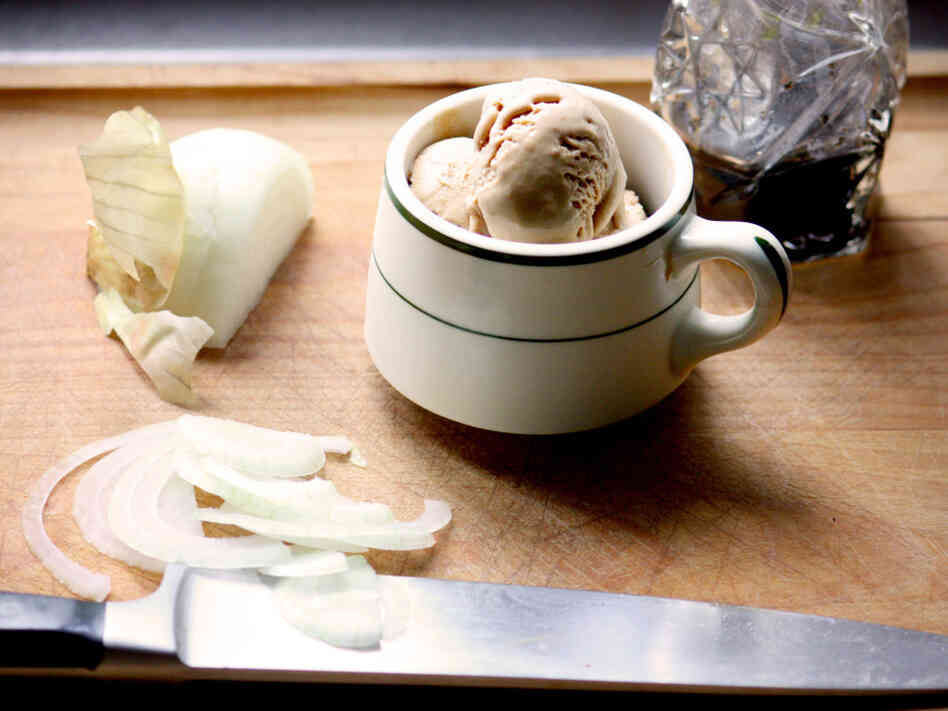 Recipe: Caramelized Onion And Balsamic Ice Cream : NPR