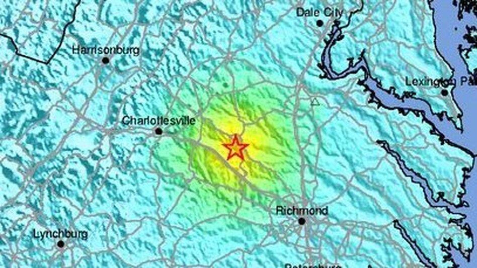 """A USGS """"shakemap."""" (USGS)"""