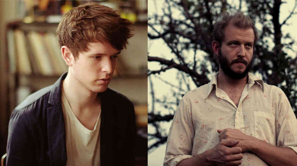 James Blake and Bon Iver.