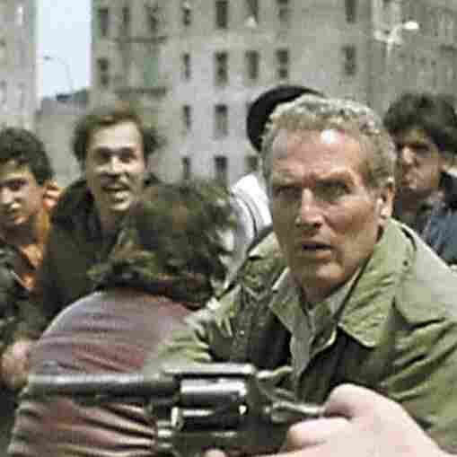 Paul Newman (center) as Murphy, a conflicted police officer, in the 1981 film Fort Apache, The Bronx.