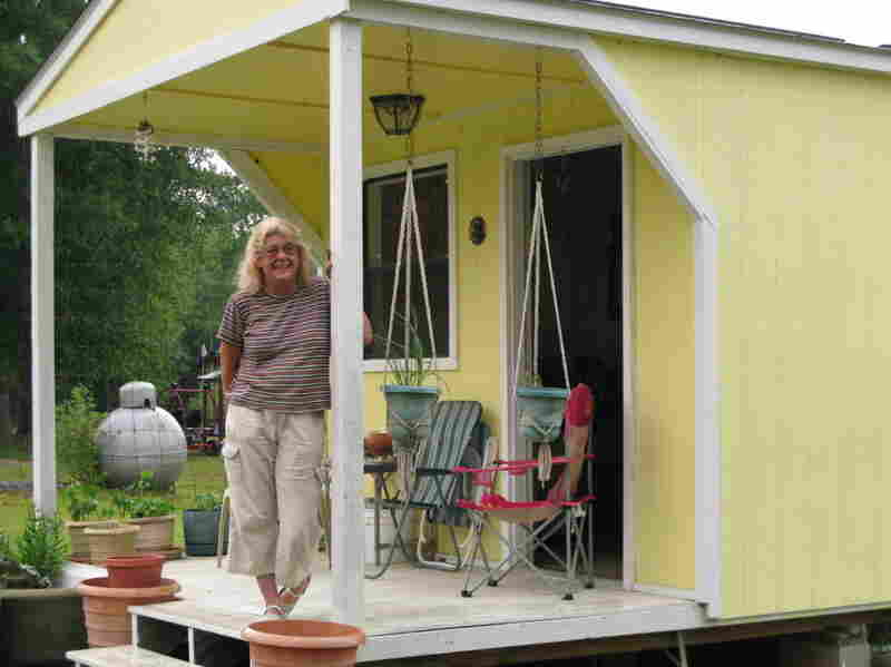 Pamela Landry lived in a FEMA trailer for a little more than two years after Hurricane Katrina. Since then, she has built herself a home out of two sheds.