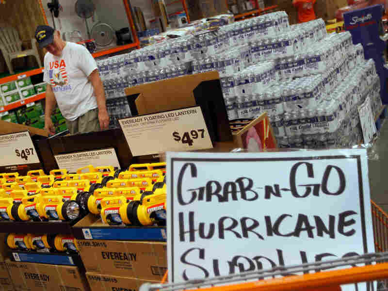 Jim Abel shopped for hurricane supplies at Home Depot this week as he prepared for the possible arrival of Hurricane Irene in West Palm Beach, Fla.