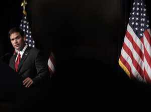 Republican senator Marco Rubio of Florida speaks during the Reagan Forum at the Ronald Reagan Presidential Library in Simi Valley, Calif., Tuesday, Aug. 23, 2011.