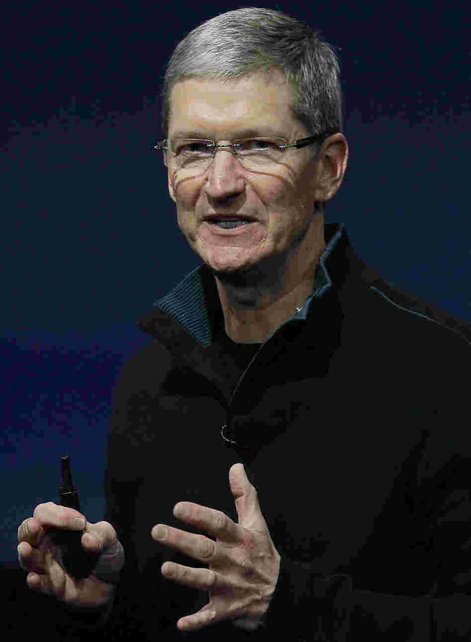 Tim Cook, who is Apple's new CEO. (Oct. 20, 2010, file photo.)