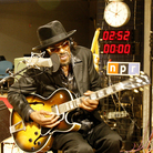 Chuck Brown performs at NPR.