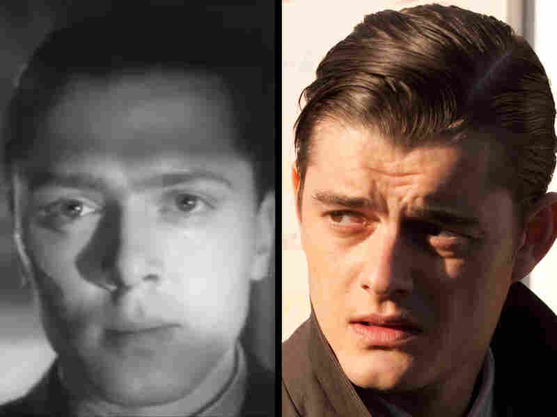 The Two Pinkies: Whether played by Richard Attenborough (left) in 1947 or Sam Riley (right) in 2011, the tough-talking psychopath rests at the depraved moral center of Brighton Rock. He's obsessed with Catholicism — not for heaven, but for hell.
