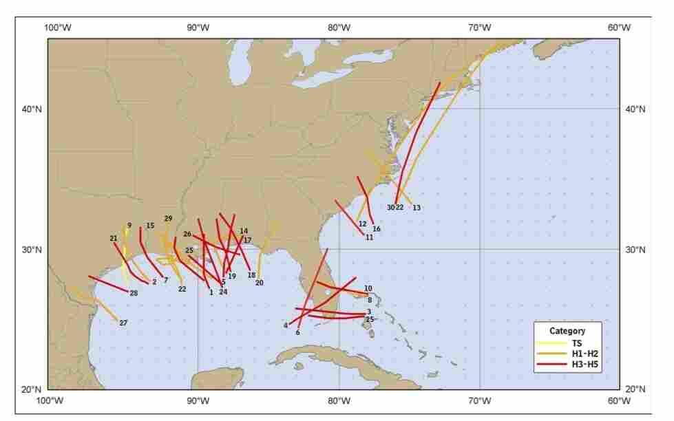 Costliest hurricanes.