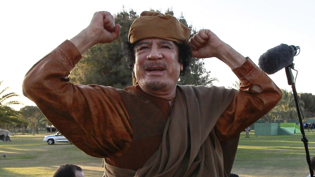 Libyan leader  Moammar Gadhafi is the latest in a line of dictators who — facing the end of  their days in power — must choose an exit strategy. (AP)