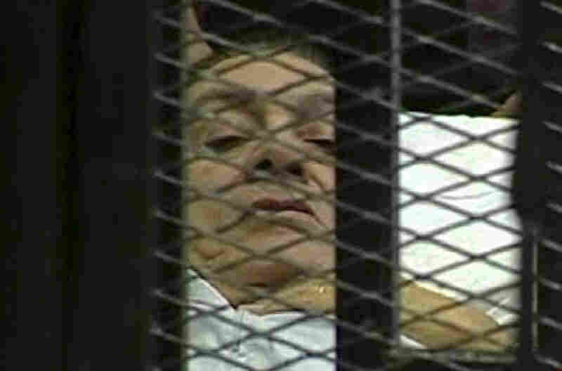 Egypt's Hosni Mubarak relinquished power but stayed in the country. Currently on trial for charges of corruption and ordering the killing of anti-government protesters, he was last seen publicly in a cage in a Cairo courtroom.