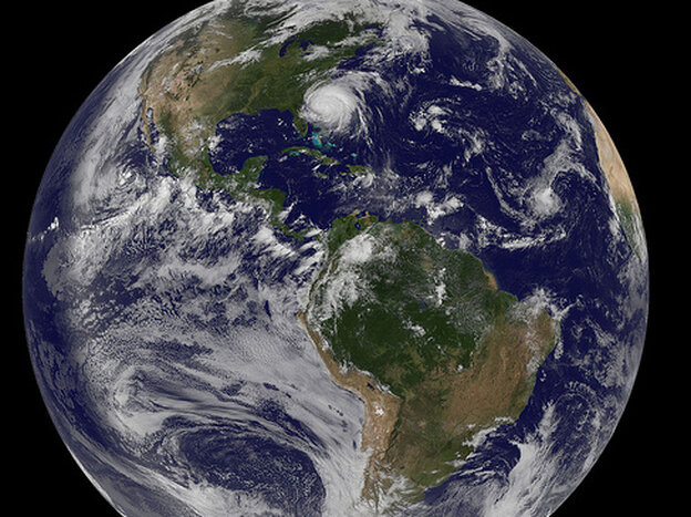 Irene from space.  Follow link for very high resolution version