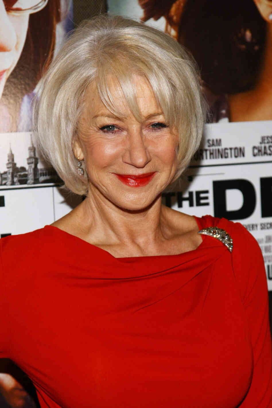 Actress Helen Mirren attends a screening of The Debt last week.