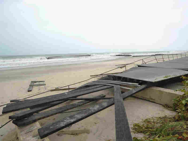 Irene destroyed much of the two-mile boardwalk in Spring Lake, N.J.
