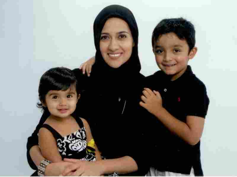 Rabiah Ahmed and her children during Ramadan.