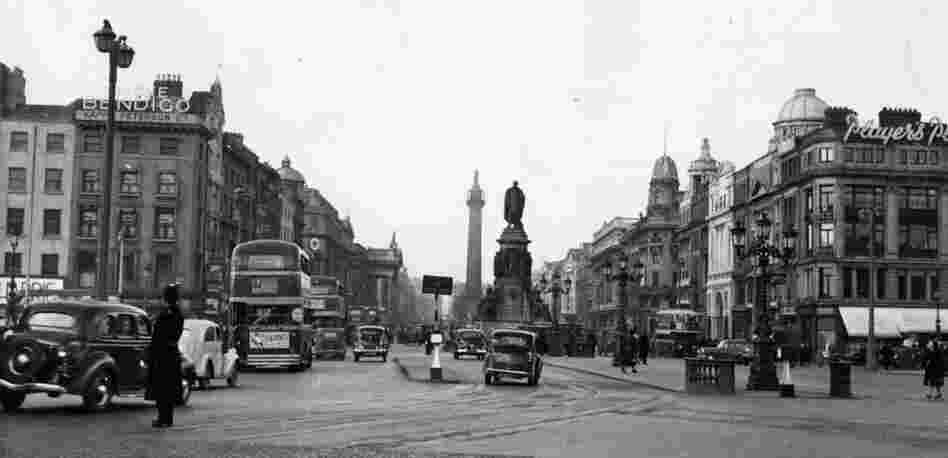 "O'Connell Street, 1952: Dublin in the 1950s is ""perfect noir territory"" says writer John Banville (who writes crime fiction under the pen name Benjamin Black). The city's dark history is incorporated into his work. ""I am a novelist and therefore a cannibal,"" he says. ""I eat whatever comes near me. Everything is material."""
