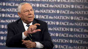 Former Secretary of State Colin Powell during his appearance Sunday on CBS News' Face the Nation.