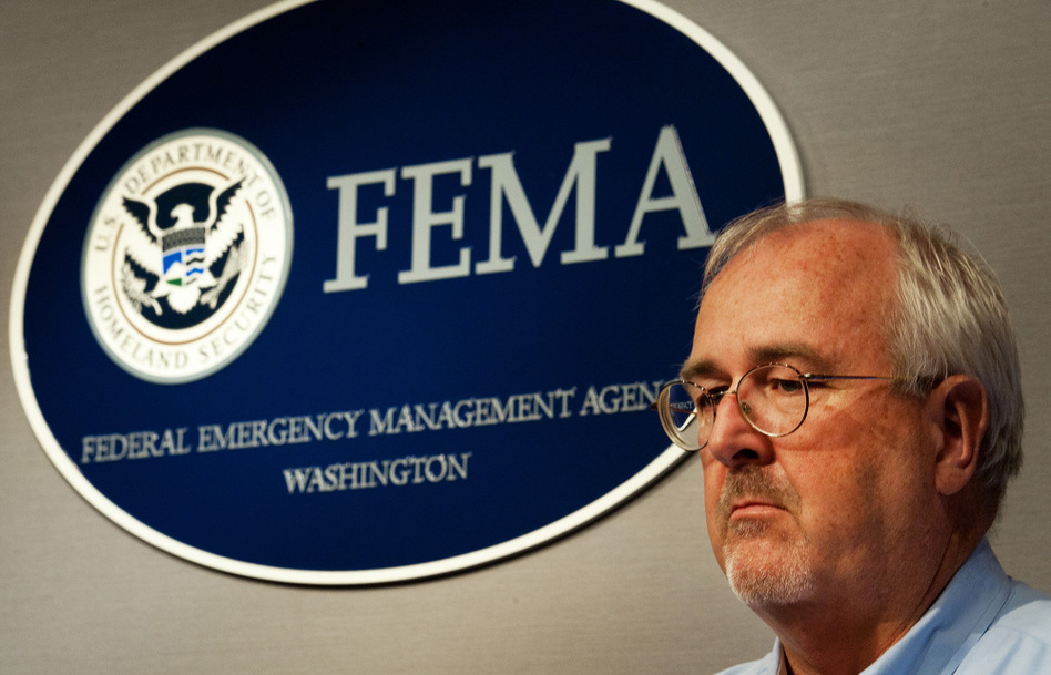 FEMA Administrator Craig Fugate, shown at a press briefing last week in Washington, says his agency will postpone some repair work on earlier disasters in order to pay for the immediate needs of Irene.