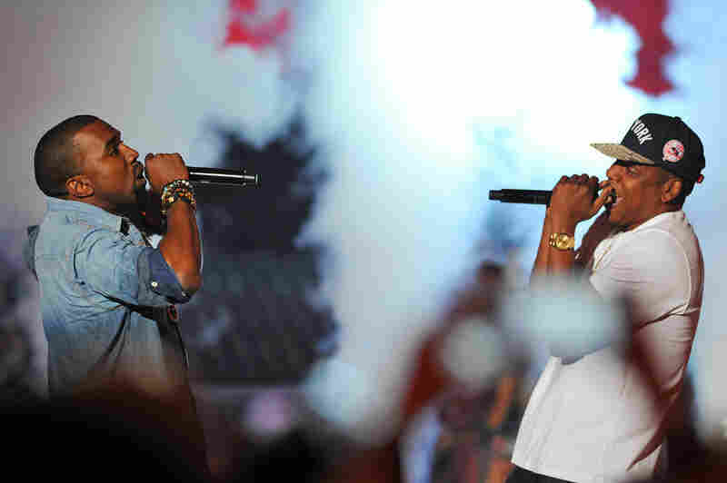 Kanye West and Jay-Z, whose collaborative album Watch The Throne was released earlier this month, performed together.