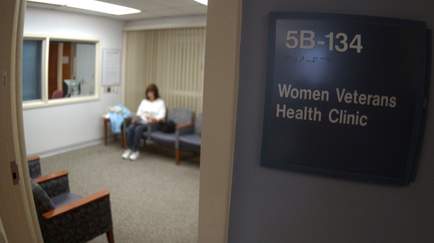 The Department of Veterans Affairs has sought to improve the care its hospitals offer to female veterans. In this file photo, a woman sits in a waiting room at the Veterans Affairs Medical Center in Martinsburg, W. Va. (AP)