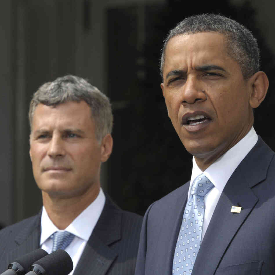 President Obama and economist Alan Krueger at the White House this morning (Aug.