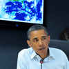 President Obama spoke Saturday during a daily video teleconference as Hurricane Irene made its way up the East Coast.