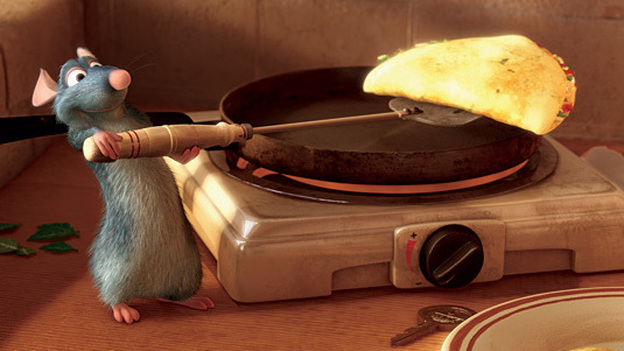 Patton Oswalt is the voice behind Remy the rat, hero of Ratatouille, who likes his cheese avec des oeufs. (Disney/Pixar)
