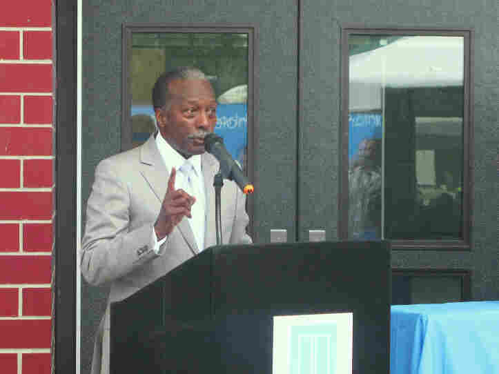 Roy Roberts, emergency manager of the Detroit Public Schools, speaks at Amelia Earhart Elementary-Middle School. Roberts, a former General Motors executive, came out of retirement to try to fix the school system.