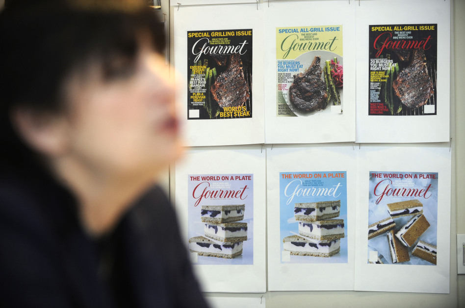 Gourmet wasn't just a magazine about recipes, Reichl says; it was a magazine about the culture of food. She is shown above in her New York office in April 2009. (AP)