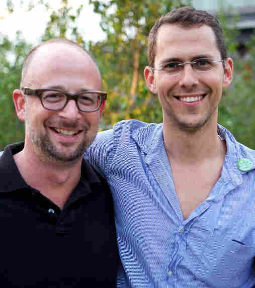 Joshua David (left) and Robert Hammond co-founded Friends of the High Line in 1999 to lobby for the site's preservation and reuse.