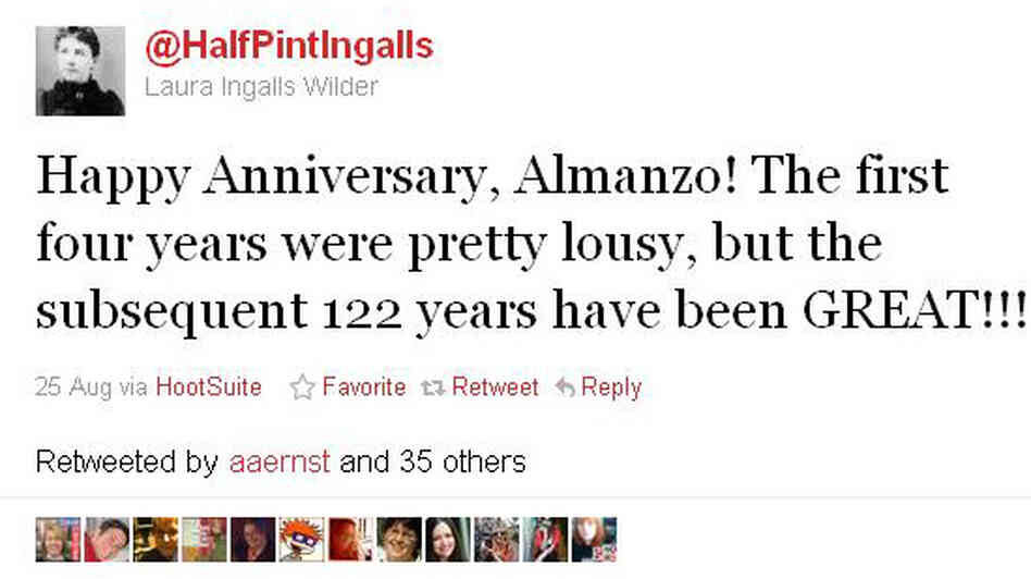 "A tweet from the Twitter account of ""@halfpintingalls,"" which is written by author Wendy McClure."