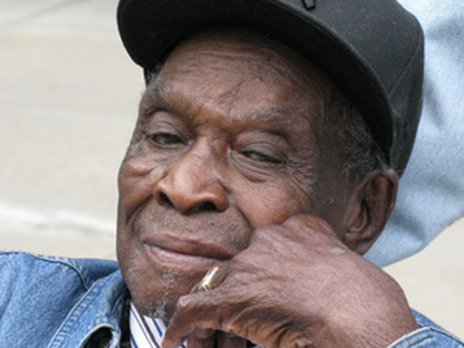 """David """"Honeyboy"""" Edwards was recorded by musicologist Alan Lomax for the Library of Congress."""