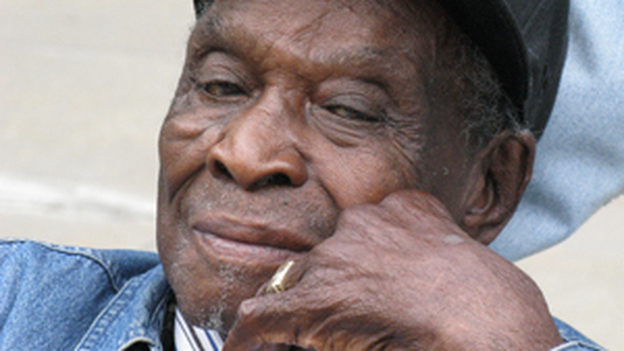 "David ""Honeyboy"" Edwards was recorded by musicologist Alan Lomax for the Library of Congress. (NPR)"