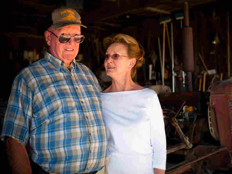 Maryland farmer George Bowling and his wife, Julia. She says they started researching African crops after some customers asked for sweet potato leaves.