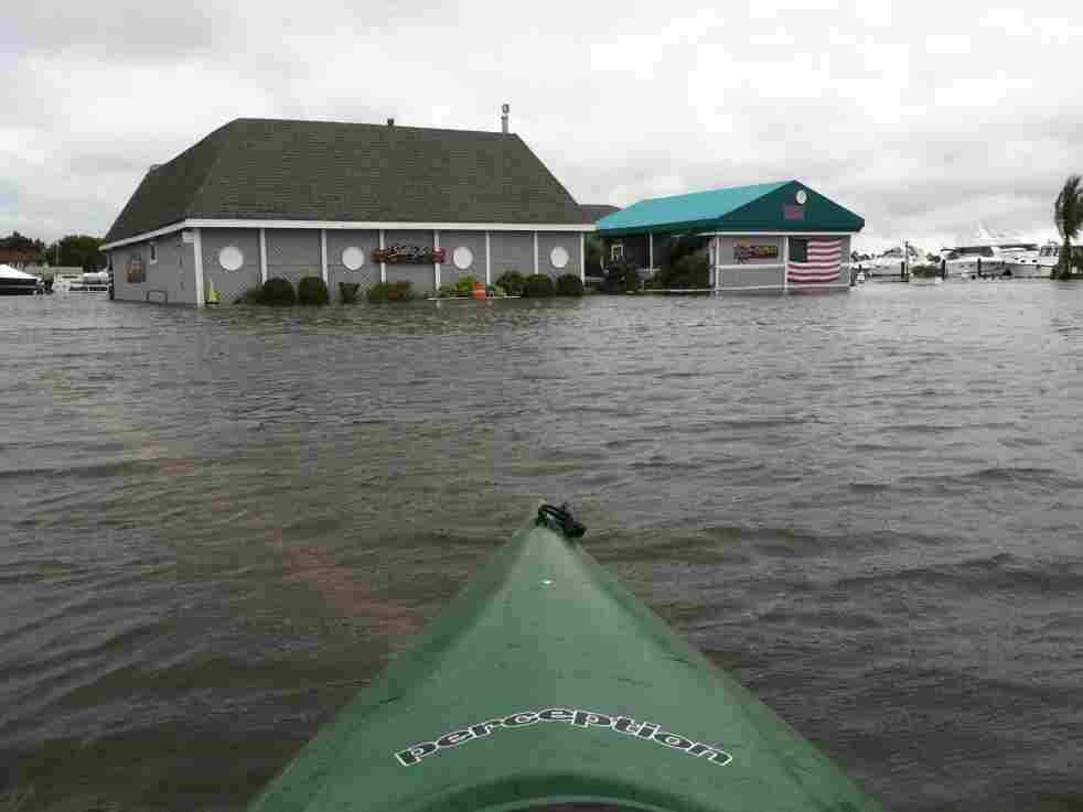 Sallee Tee's restaurant in Monmouth Beach, N.J., was flooded following Hurricane Irene.