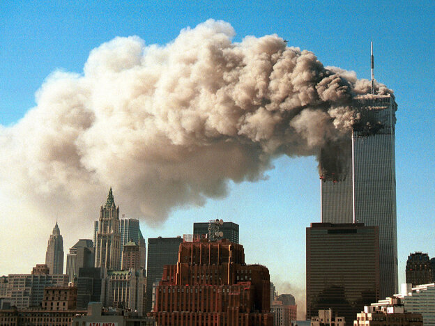 The towers of the World Trade Center. Sept. 11, 2001.