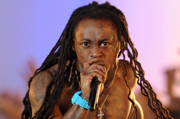 Lil Wayne performing at MTV's Video Music Awards on Sunday night.