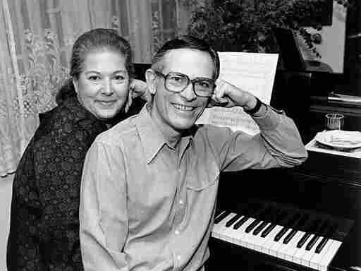 Marilyn and Alan Bergman pose at the piano in their Beverly Hills home on March 17, 1980, the same year the Bergmans were inducted into the Songwriters Hall of Fame.