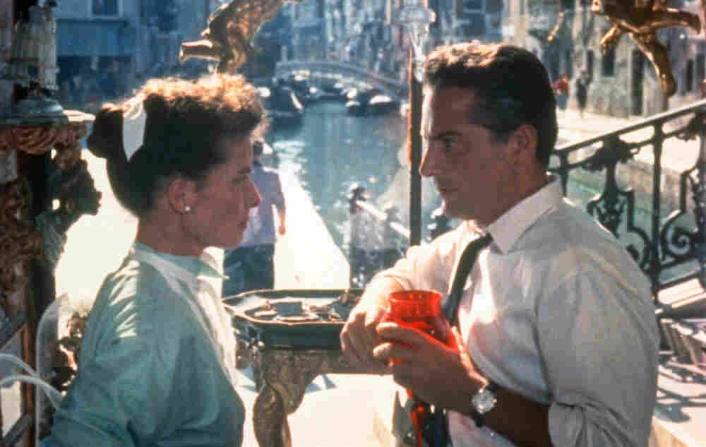 Katharine Hepburn (left) and Rossano Brazzi in Venice in David Lean's 1955 film Summertime.