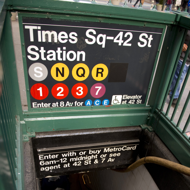 Helvetica is the chosen sans-serif typeface of the New York City subway.