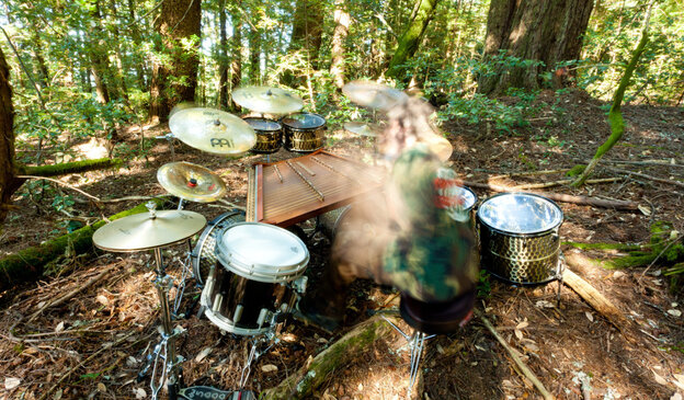 Botanist pounds paradiddles in some kind of ethereally weird black-metal drumline in the name of... plants?