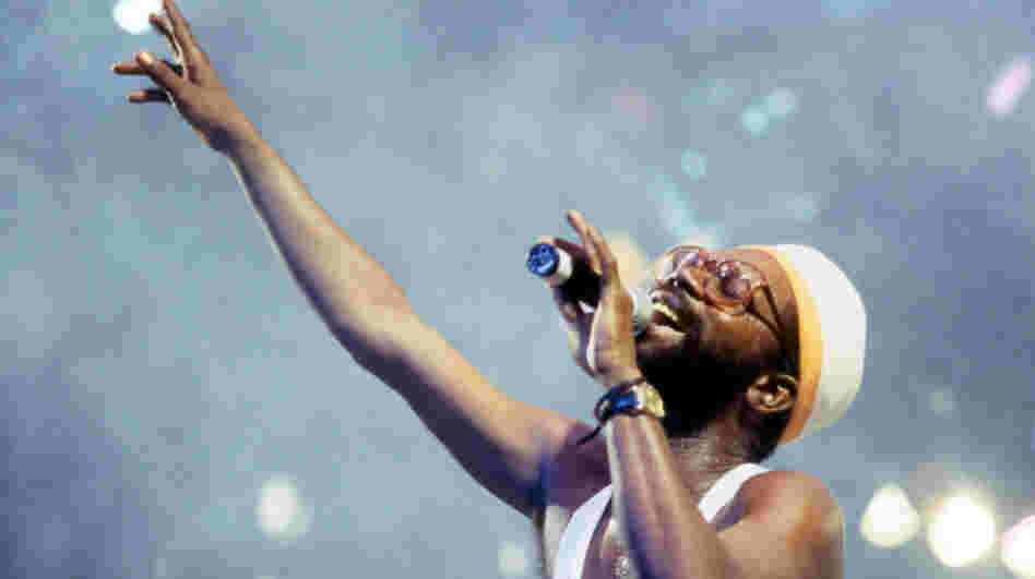 "Beres Hammond onstage at Reggae Sunsplash in August of 1993. On Reggae Goes Country he sings ""He Stopped Loving Her Today,"" most famously recorded by George Jones."